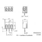 Print kroonsteen 2-polig