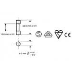 Zekering, glas zekering 100mA tot 16A